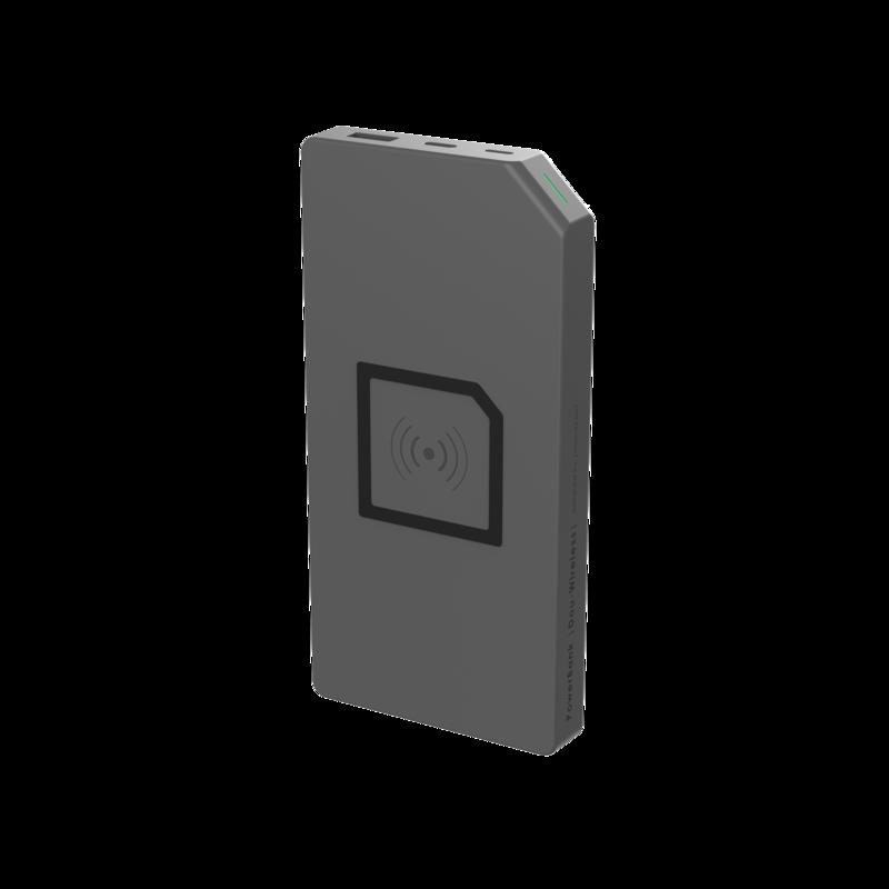ETEALDuo – Allocacoc PowerBank Duo-Wireless 8000mAh Grey