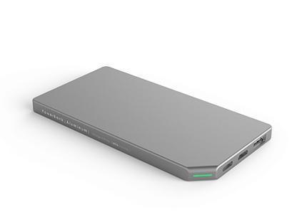 ETEALSlimS – Allocacoc PowerBank Slim Aluminium 5000mAh Silver